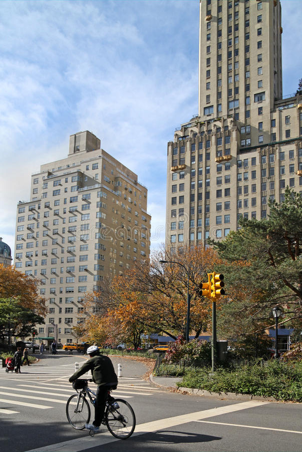 New York, Central Park West lizenzfreie stockfotografie