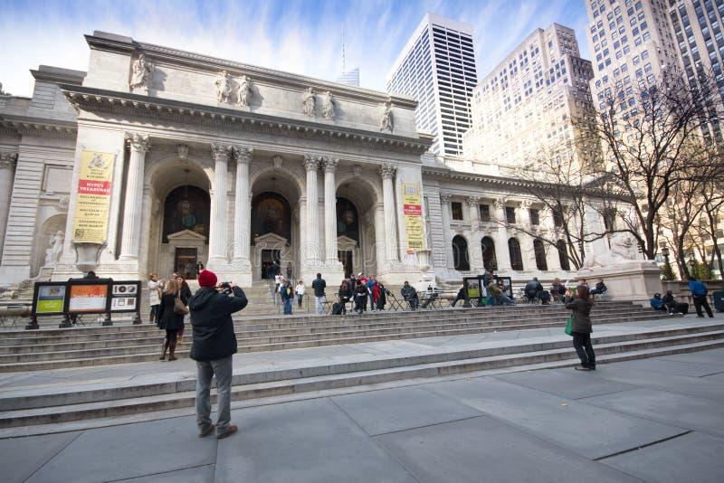 New- York Cityöffentliche Bibliothek lizenzfreie stockfotos