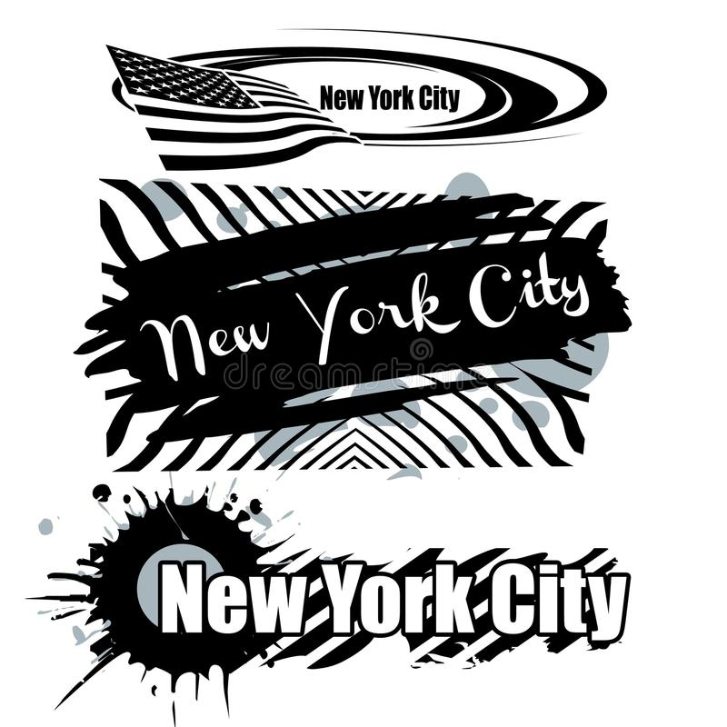 Download New York City stock illustration. Image of text, liberty - 24234481