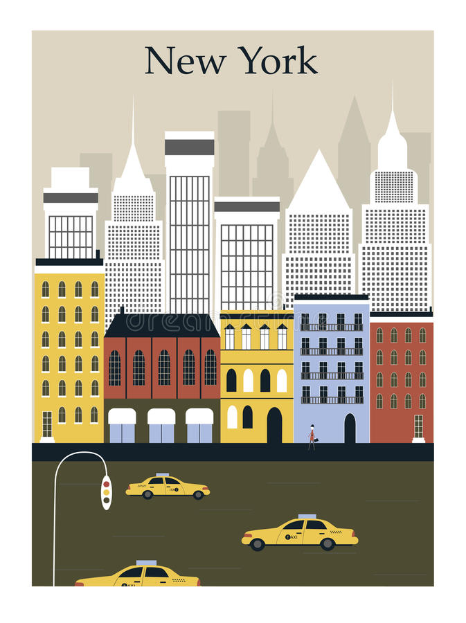 New York City. ilustración del vector