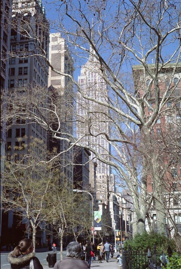 Download New York City USA stock image. Image of neighborhood, sidewalk - 4832341