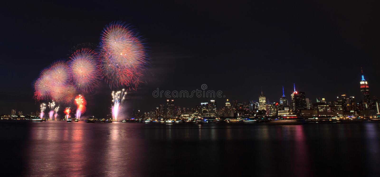 New York City - 4th of July Fireworks royalty free stock image