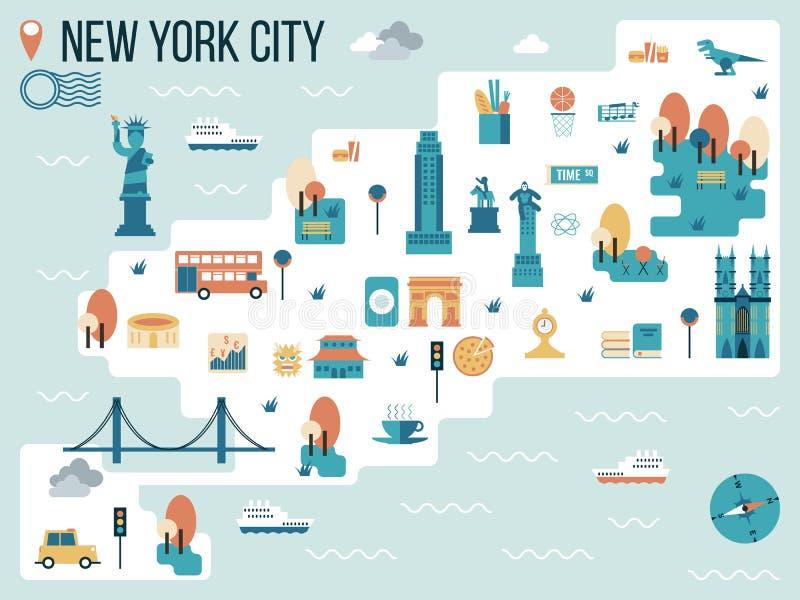 New York City ilustração stock