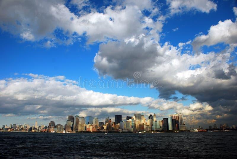 New York City. Lower manhattan skyline stock photo