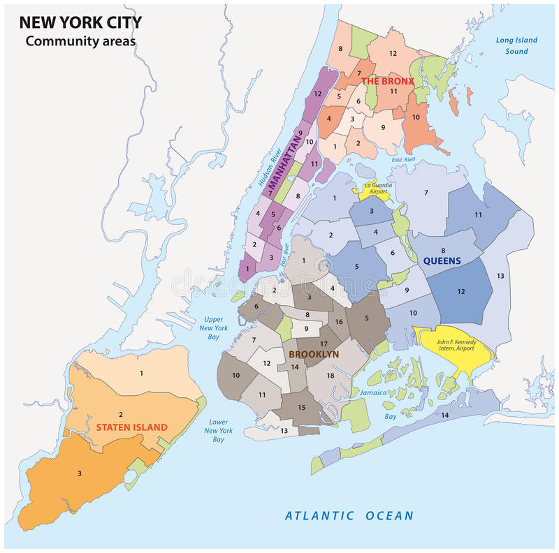 Download New York City Administrative Map Stock Ilration Image 70579594
