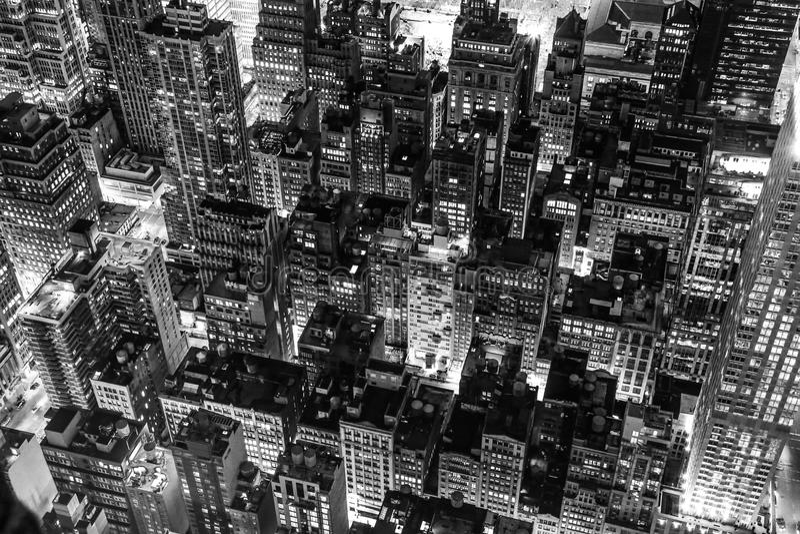 New York City alla notte fotografia stock libera da diritti