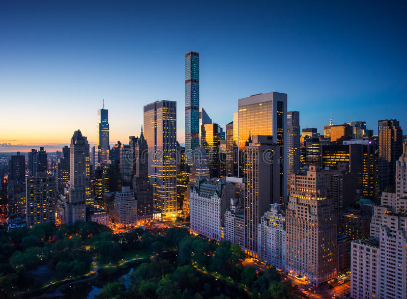 New York City Amazing Sunrise Over Central Park And
