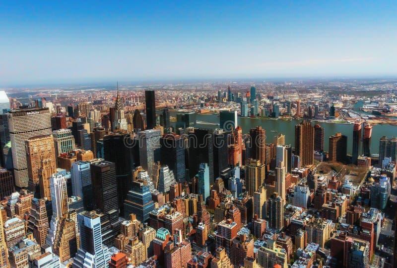 New York City Amerikas förenta stater - April 12: Manhattan arkivfoto