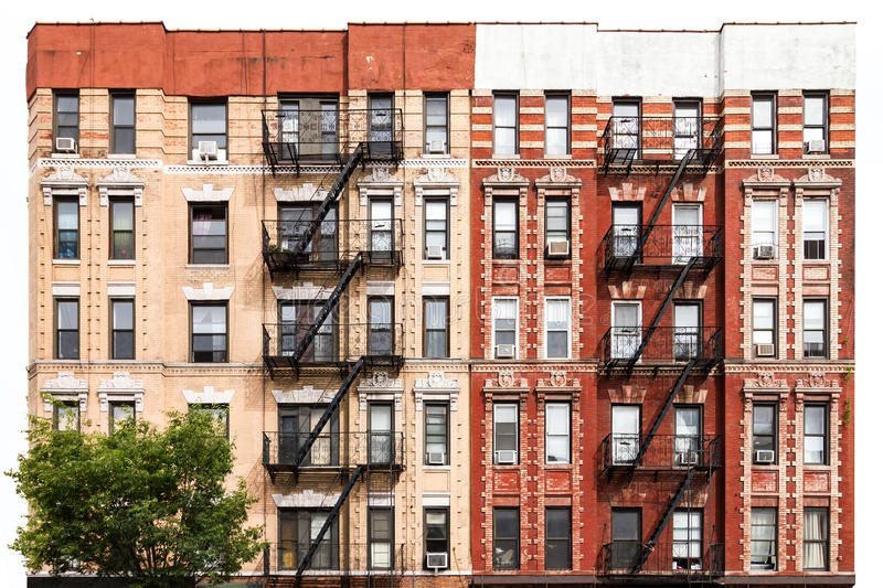 New York City Apartment Buildings in the East Village royalty free stock photography