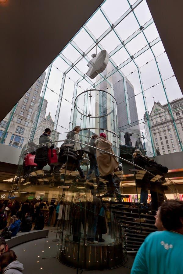 New York City Apple Store fotografia stock