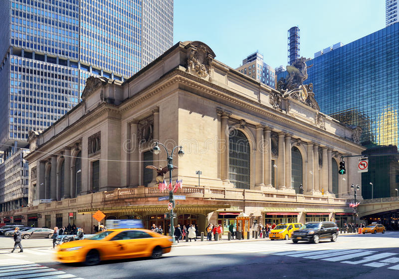 NEW YORK CITY - 14. April: Historisches NYC, Grand Central -Anschluss a lizenzfreie stockbilder