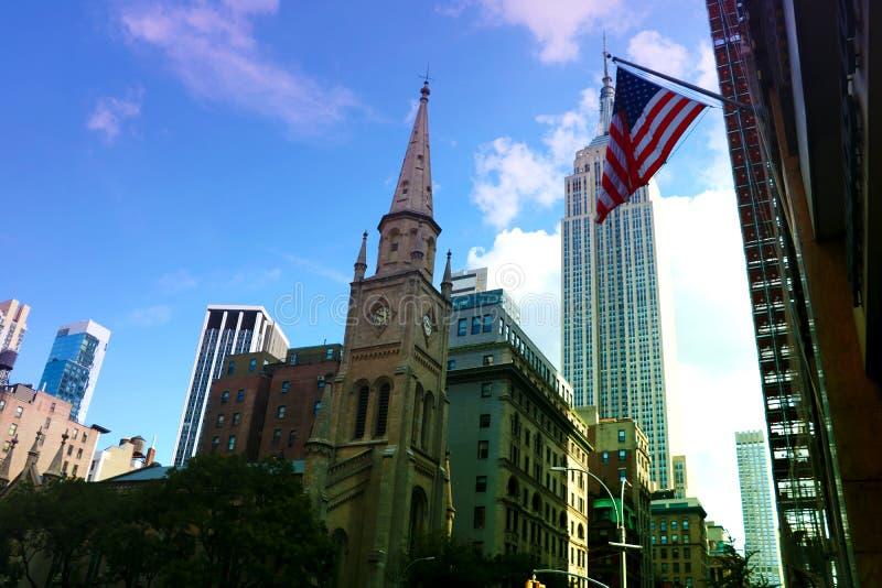 New York City - 25. August 2018: Empire State Building, Midtown Manhattan, New York City lizenzfreies stockfoto