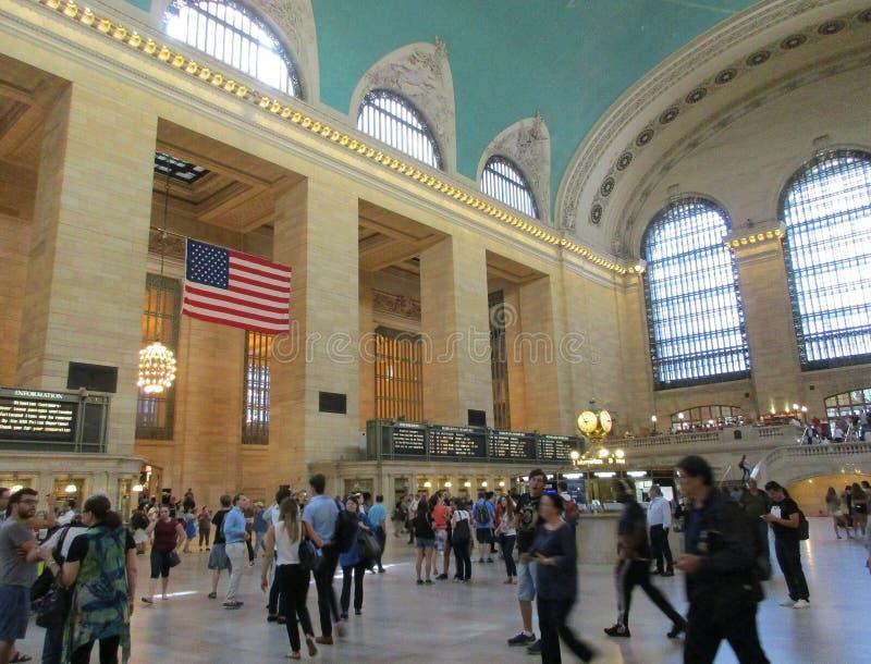 New York City, am 3. August: Grand Central -Stationshaupthalle von Manhattan in New York lizenzfreie stockbilder