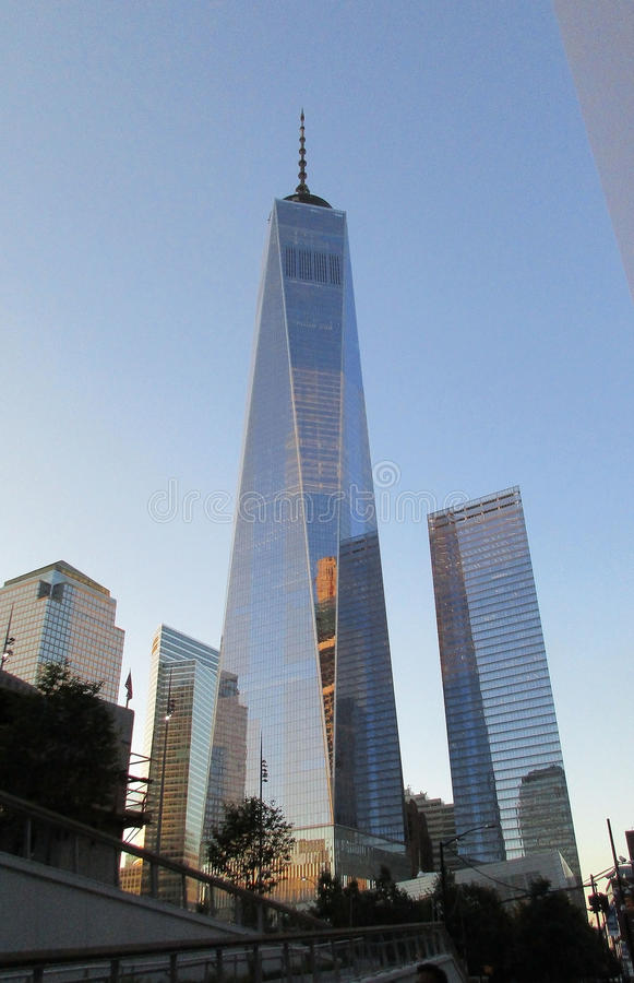 New York City,August 2nd:Freedom Tower Building in Manhattan from New York City royalty free stock photography