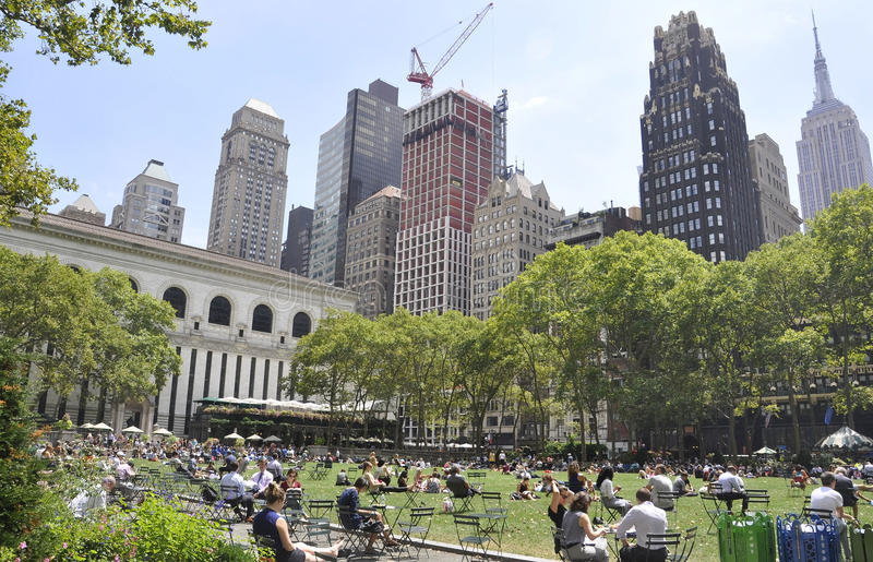New York City,august 3rd:Bryant Park from Manhattan in New York. Bryant Park view from Manhattan in New York on august 3rd 2016 royalty free stock photos