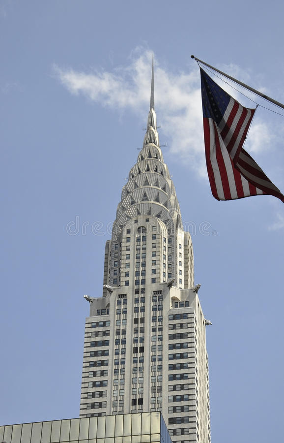 New York City,august 3rd:Chrysler Tower close up from Manhattan in New York stock photography