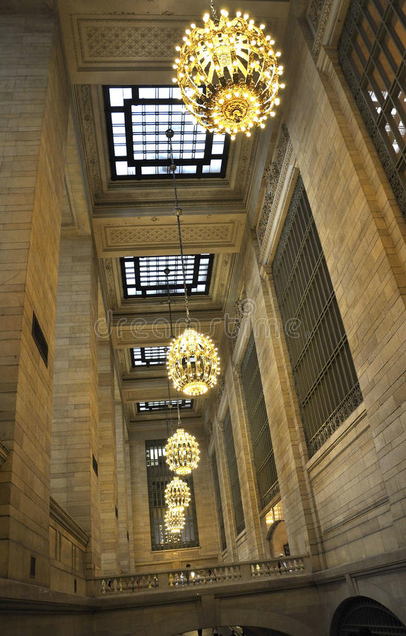 New York City,august 3rd:Grand Central Station inside hall from Manhattan in New York stock images