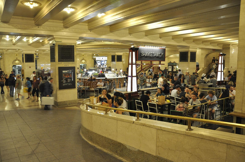 New York City,august 3rd:Grand Central Station interior Foodcourt from Manhattan in New York royalty free stock image