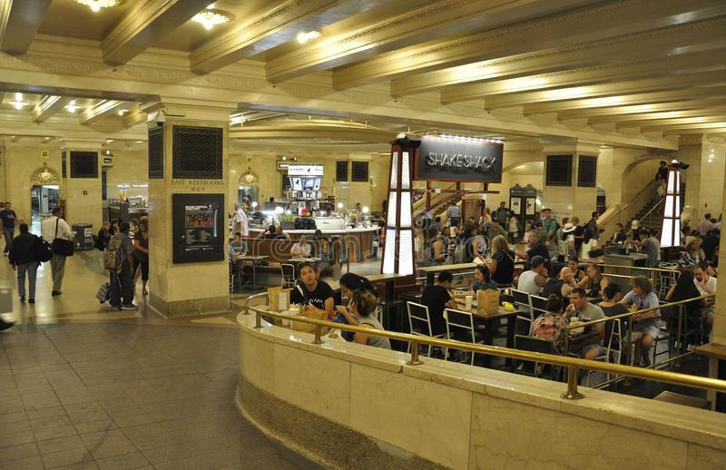 New York City,august 3rd:Grand Central Station interior Foodcourt from Manhattan in New York stock image