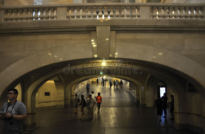 New York City,august 3rd:Grand Central Station interior view from Manhattan in New York royalty free stock photos