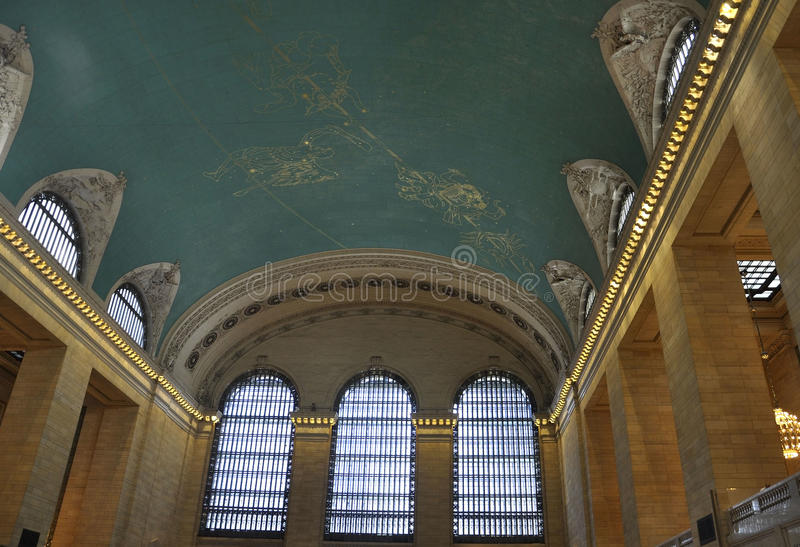 New York City,august 3rd:Grand Central Station Main Hall Ceiling interior from Manhattan in New York stock image