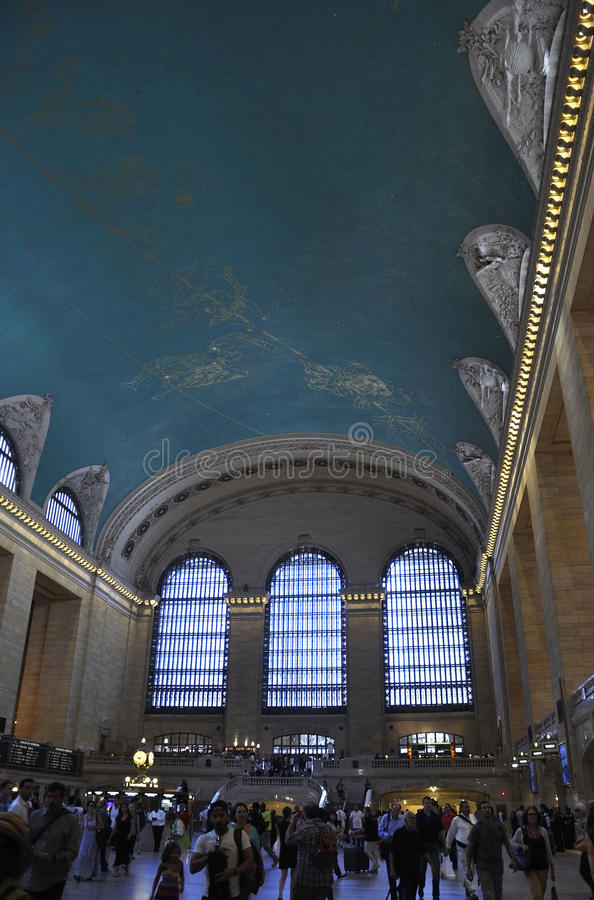 New York City,august 3rd:Grand Central Station Main Hall interior from Manhattan in New York royalty free stock photo