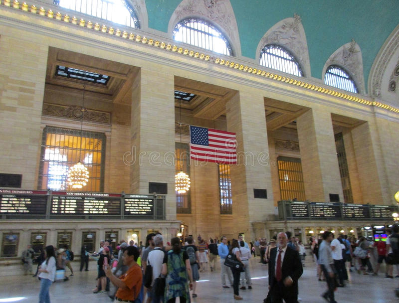 New York City,august 3rd:Grand Central Station Main hall from Manhattan in New York royalty free stock photo