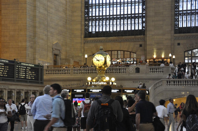 New York City,august 3rd:Grand Central Station Main hall from Manhattan in New York royalty free stock photos