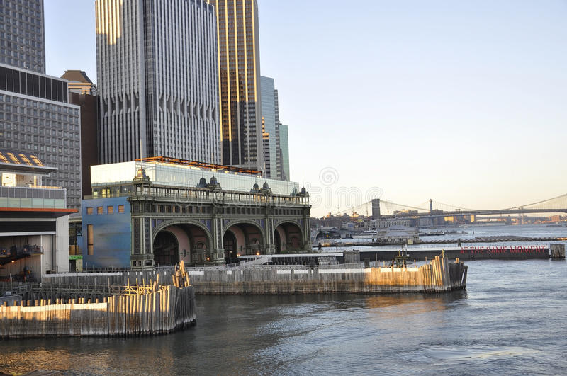 New York City,August 3rd:Staten Island Ferry Terminal from lower Manhattan in New York City stock photo