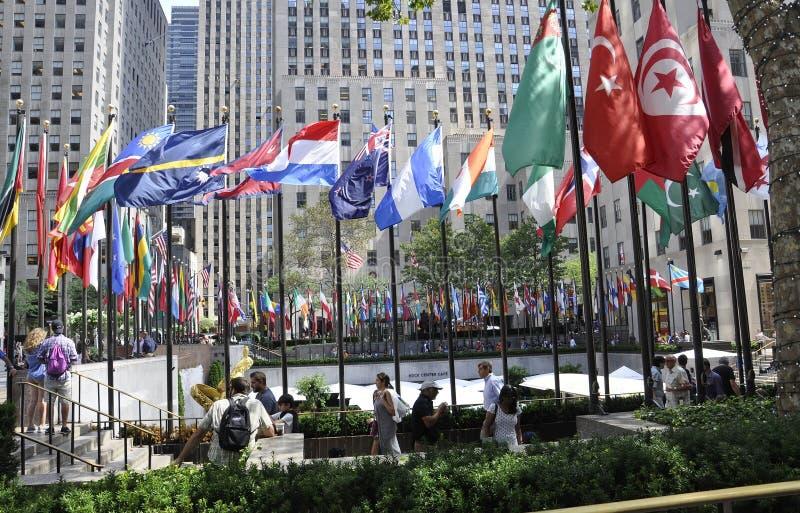 New York City, am 2. August: Rockefeller-Piazza von Manhattan in New York City stockfoto