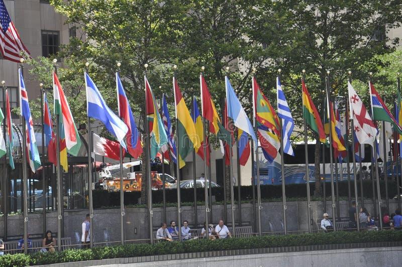New York City, am 2. August: Rockefeller-Piazza von Manhattan in New York City stockbilder