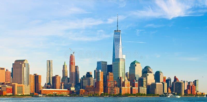 New York City, bâtiments financiers d'affaires photos libres de droits