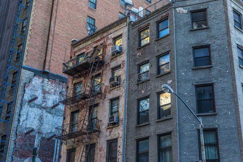 New York City - bâtiments historiques à Manhattan photographie stock