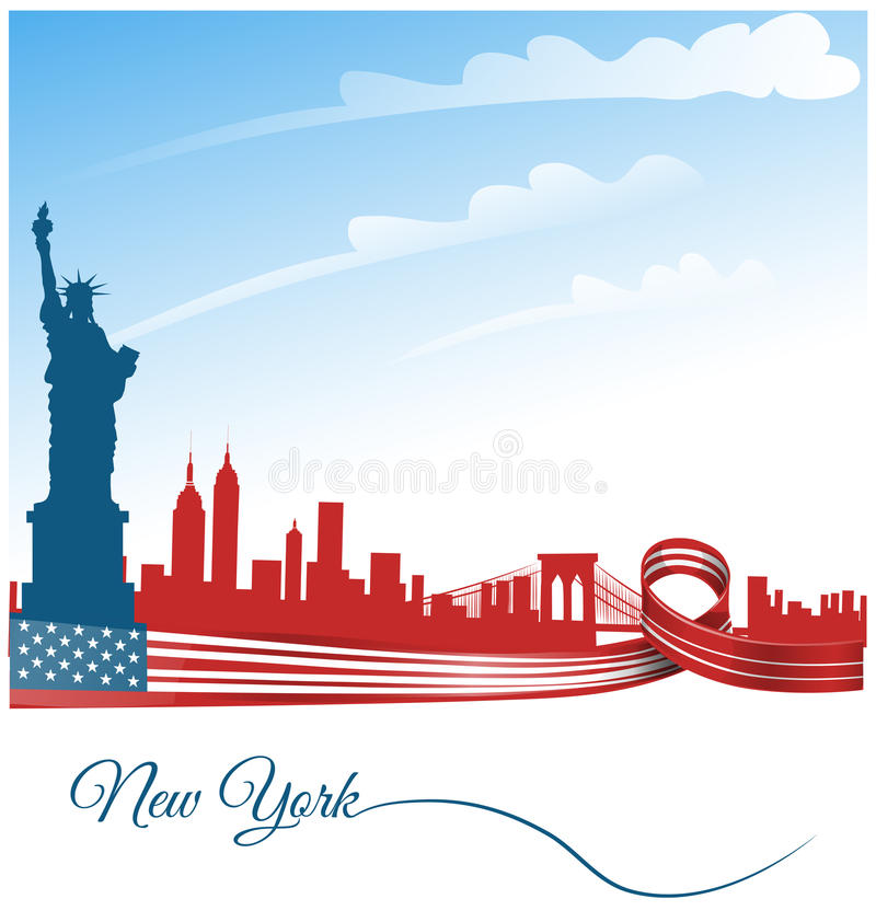 New york city background stock illustration