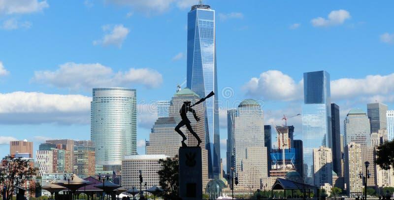New York City beskådade från Jersey royaltyfria foton