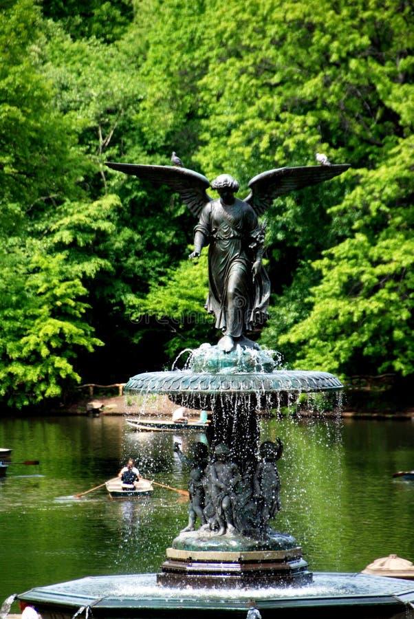 New York City: Bethesda-Brunnen in Central Park lizenzfreie stockfotografie