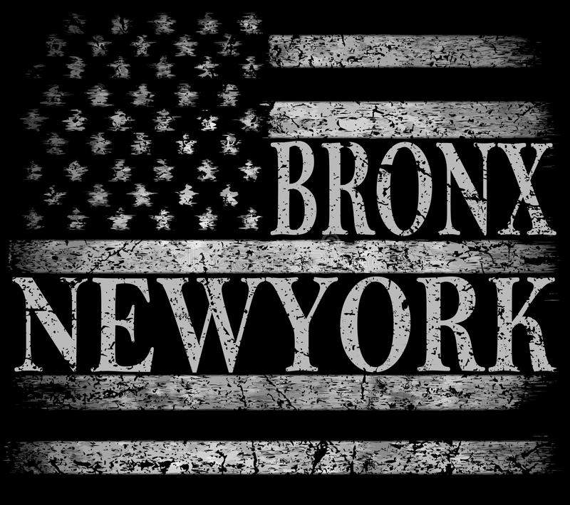 New York City, Brooklyn. Stylized American flag. Grunge background. Typography, t-shirt graphics, poster royalty free illustration