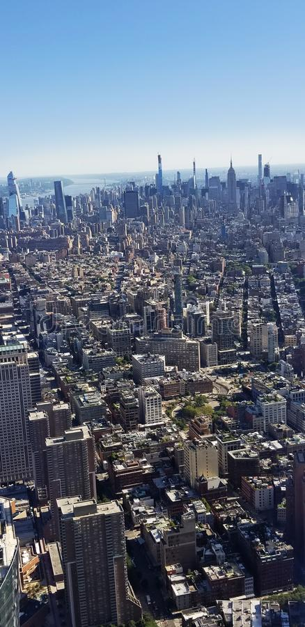 New York City Buildings Skyline View ovve arkivfoton