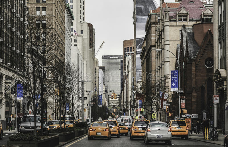New York City - Cabs & Street View royalty free stock photography