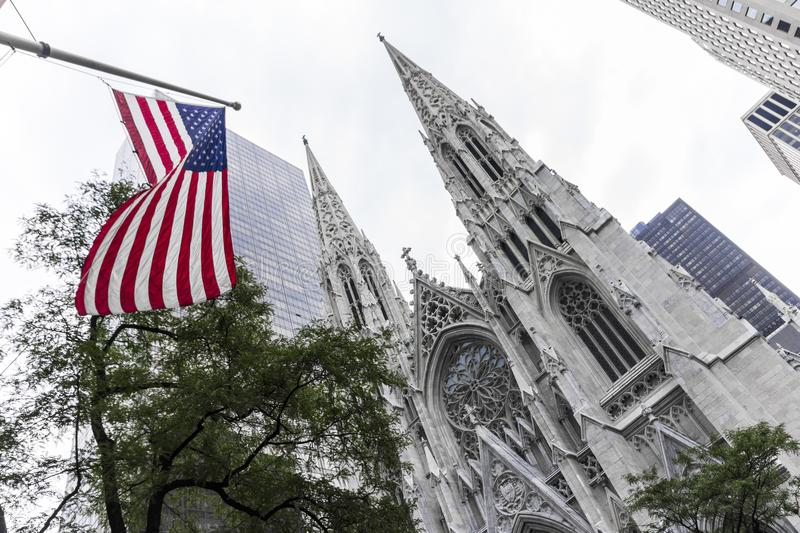 St. Patrick`s Cathedral, New York City stock photos