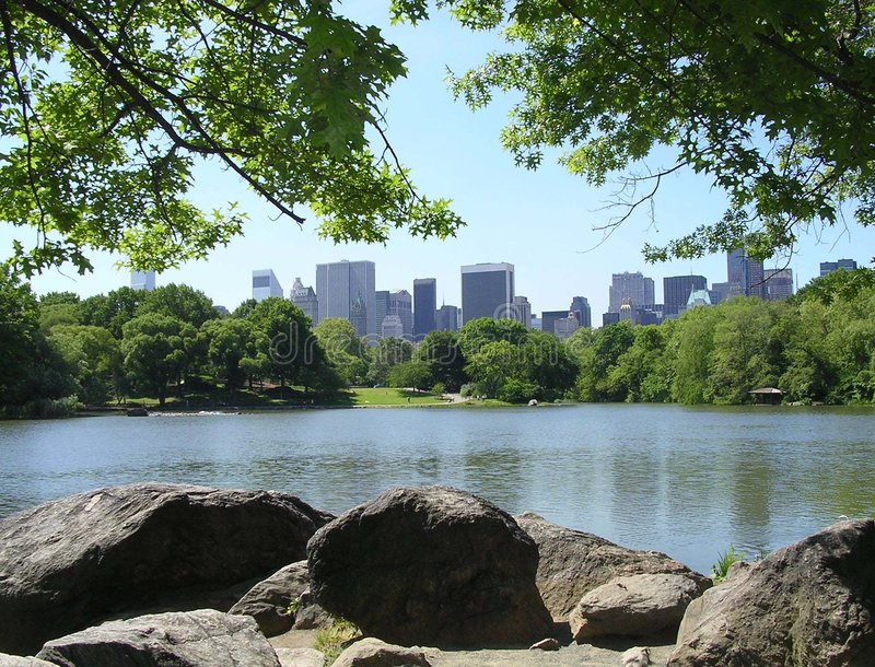 New York City From Central Park stock photos