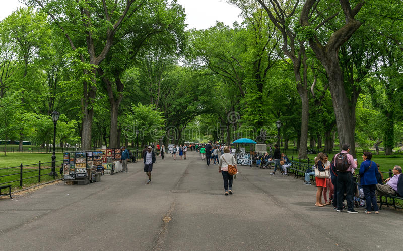 New York City Central Park Mall royalty free stock photography