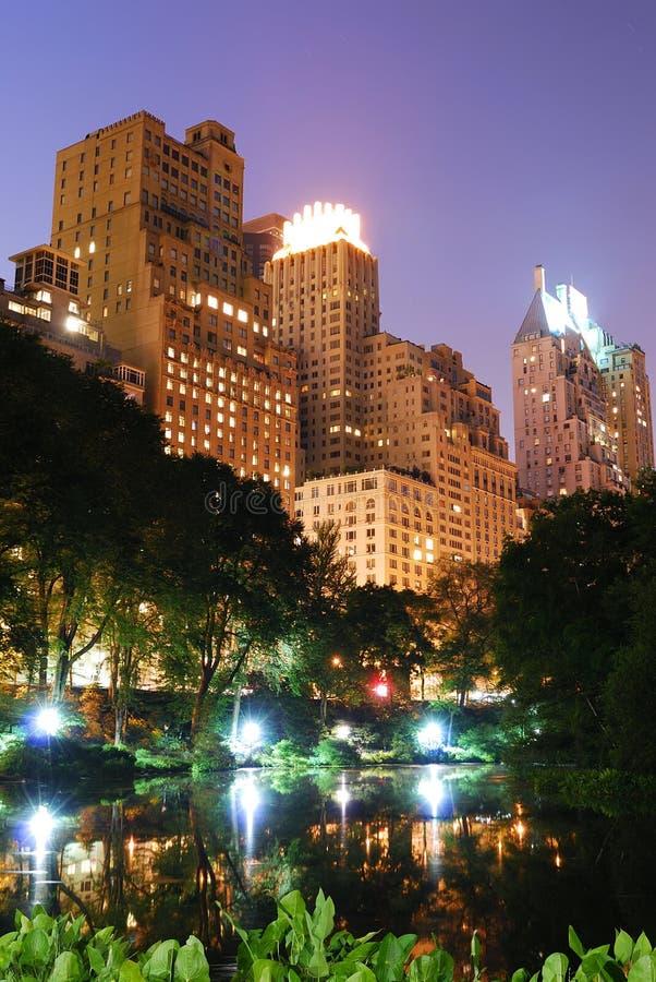 New York City Central Park na noite fotografia de stock royalty free