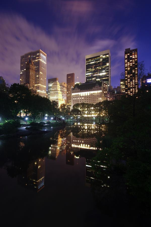 New York City Central Park na noite foto de stock