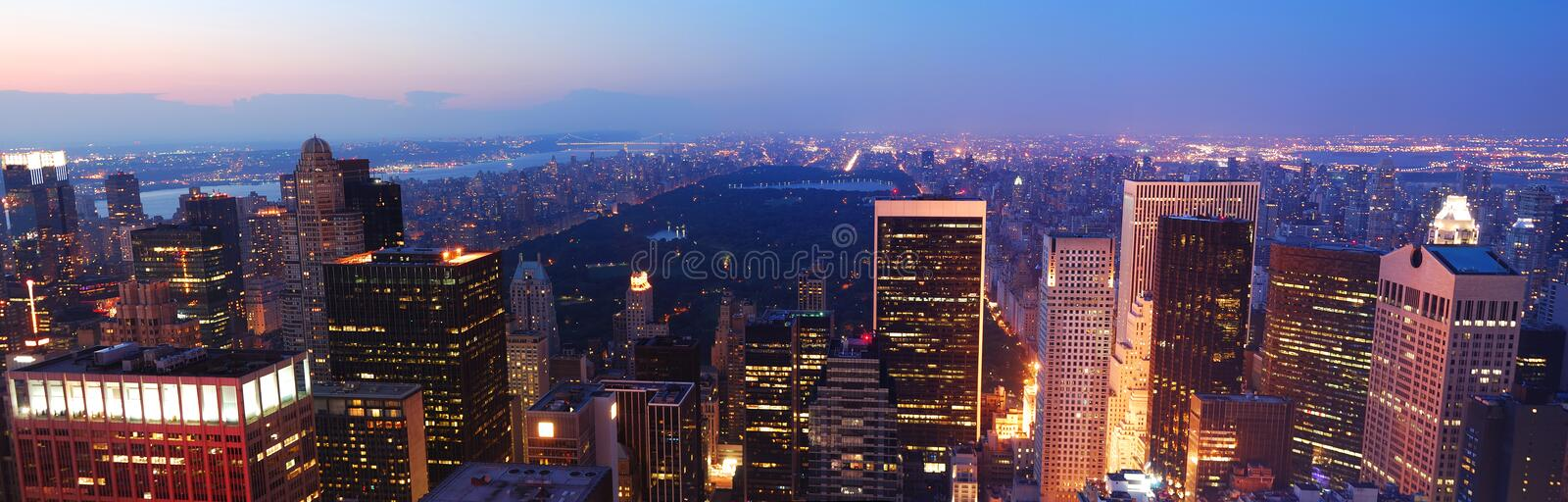 New York City Central Park panorama royalty free stock photography