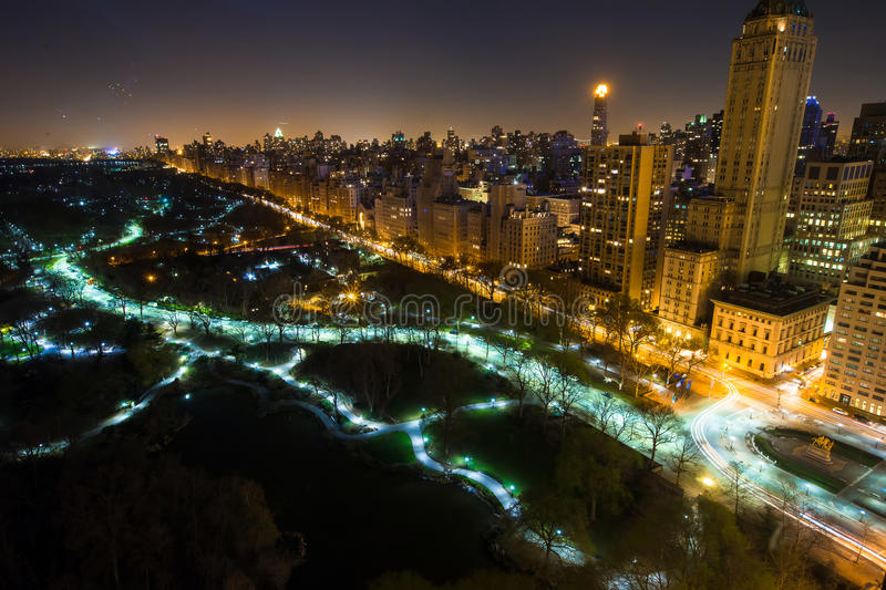 New York City Central Park panorama aerial view at royalty free stock images