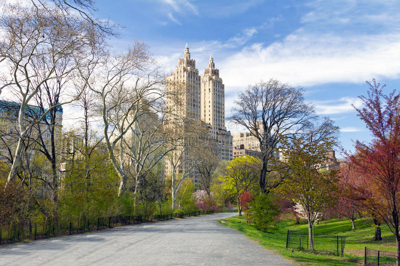 New York City - Central Park Trail in Spring stock photography