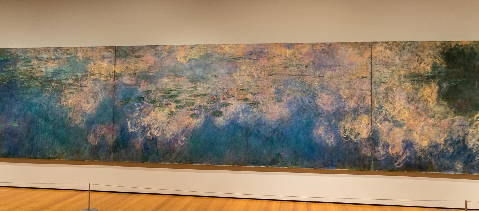 New York City Claude Monet, Water Lilies royalty free stock image