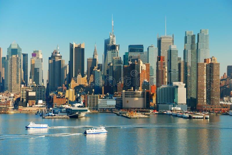 New York City con i grattacieli immagini stock