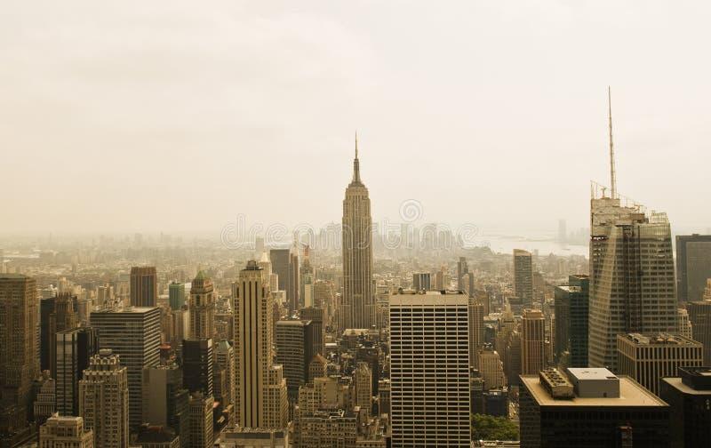 New York City da parte superior da rocha foto de stock royalty free